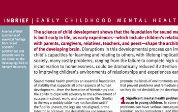 Early Childhood Mental Health InBrief